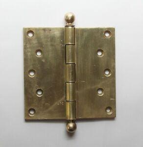 Corbin Harvard Ball Tip Brass Butt 5 x 5 Antique Door Hinge
