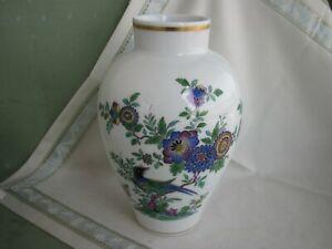 Wunderschöne große Meissen Vase mit Indischer Vogel- und Felsmalerei