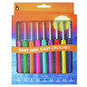 Pony Soft Grip Crochet Hooks With Flat Thumb Grip Colour Coded Ergonomic Handle