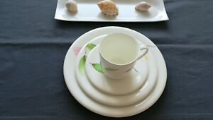 dibbern fine bone china, Set aus 4 Teilen, Teller flach Ø 27 cm, 21 cm, 16 cm