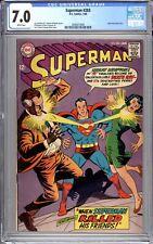 Superman #203 - CGC Graded 7.0 (FN/VF) 1968 - Silver Age