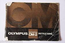 Olympus OM-2 35mm Film Camera Manual Instruction Book - English - USED B2