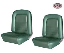 1967 Mustang Coupe Front Bucket & Rear Seat Upholstery - Turquoise by TMI