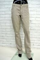 Pantalone JECKERSON Donna Taglia 32 Jeans Elastico Gamba Dritta Pants Woman