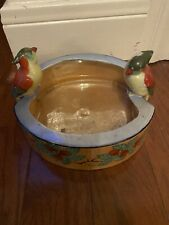 Vintage Decorative Bowl with Birds
