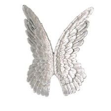 59962 Wall Decoration Wings Poly Silver Antique Finish Object H.94cm