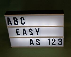 A4 LED LIGHT UP SIGN comes with Assorted 85 Letters, Numbers, Symbols Has 3 Rows