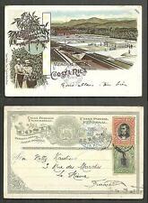 Gruss aus Costa Rica Coffee Beans Plantation 1898 stamps