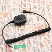 For Icom Radio  Handheld/Hand Shoulder Mic with Speaker Walkie Talkie 2 Pin Jack