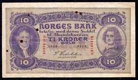 Norway 10 Kroner  1929  P-8b  VF