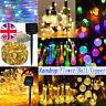 50 LED Solar Powered Outdoor Fence Fairy String Lights Christmas Wedding Decor