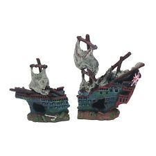 British Ship Wreck Fish Aquarium Boat Ornament Shipwreck Decoration English MS90