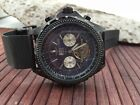 Minoir Germany model XXL Rouen ip black automatic watch - mesh band - new