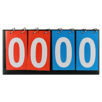Portable 4 Digit Flip Scoreboard Tabletop Multi Sports Basketball Scorer Tennis