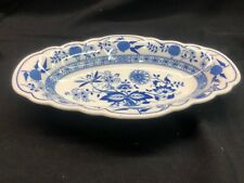 Vintage Hutschenreuther Germany Blue Onion 9 1/2 Oval Serving Dish! Excellent