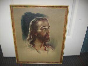 1935 VINTAGE Sallman wood Framed Picture JESUS