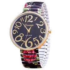 Women Watch Elasticity Flower Shrink Bracelet Quartz Wrist Watch Gift Christmas