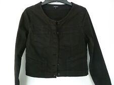 MORE&MORE Jeansjacke Kurze Jacke kastig schwarz Stretch 38