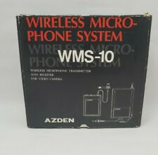 Azden Wireless Microphone System For Video Camera Wms-10 Made in Japan