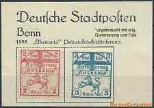BONN 1896 Privatpost - Rhenania, Mi.-Nr.1,2, *ungebraucht m. Gum./Falz (#35743)