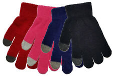 3 Pairs Childrens Touch Screen Gloves Boys Girls Kids One Size for Smartphones
