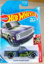 NEW Hot Wheels #11 Flames 1/10 Custom  '69 Chevy Pickup Truck  FREE SHIPPING