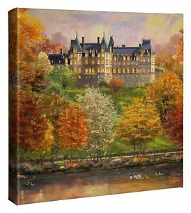 Thomas Kinkade Studios Biltmore in the Fall 14 x 14 Gallery Wrapped Canvas