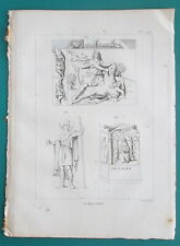 MYTHOLOGY Barbar Gods Lunus Mithra Killing Beast Nehalennia - 1804 Antique Print