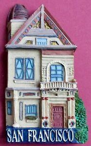 Souvenir Fridge Magnet San Francisco House Victorian Architecture California USA