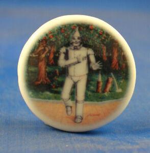 Birchcroft China Button -  Wizard of Oz Tin Man - One Inch Size ( 25 mm )