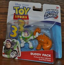 Disney Toy Story 3 Protector Buzz Good Mood Chuck Figure Buddy Pack Action Links