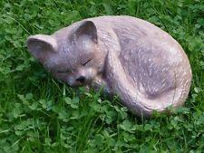 Steinfigur Tierfigur Katze groß terracotta  Katzen