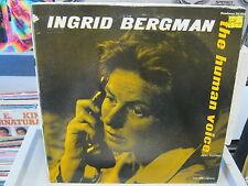 Ingrid Bergman Human Voice vinyl LP Jean Cocteau 1960 CAEDMON
