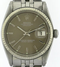 Rolex Oyster Perpetual Datejust Ref.1601 Vintage Herren-Armbanduhr Stahl/WG 1975