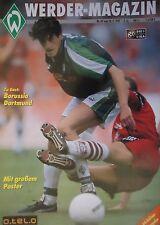 Programm 1997/98 SV Werder Bremen - Borussia Dortmund