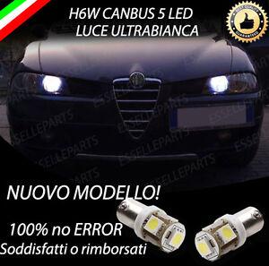 COPPIA LUCI POSIZIONE H6W LED ALFA ROMEO 156 RESTYLING + GIUGIARO 6000K CANBUS