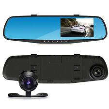 "Car DVR Rearview Mirror Video 4.3"" Recroder Camera HD 1080P Dual lens Cam"