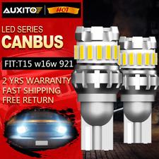 AUXITO T15 W16W 921 912 1200LM White 6500K For LED REVERSE BACKUP LIGHT BULB NEW