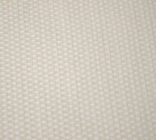 Cream White Texured Chenille Geometric Upholstery Fabric