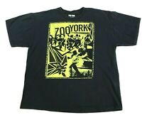 Zoo York Men's Black T-Shirt with Neon Green Graphic Print XL