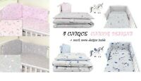 UNICORN Designs BABY BEDDING SET COT 120X60-COT BED140X70 -BUMPER+COVERS+DUVET