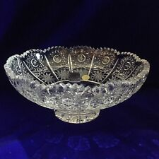 Bohemia Crystal Bowl With Round Flat Base Foot 500PK Classic Cut, Hand Made BNIB