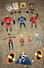 Disney Pixar The Incredibles Interactive Action Figures Set WITH CARDS AND RINGS
