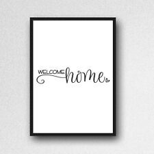 You Are Unique Print A4 Picture Unframed Gloss Typography Quote Wall Art 8