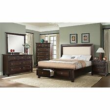 picket house furnishings harland 4 piece king bedroom set in espresso