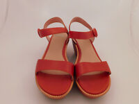 Camper Misia Size 38 Burnt Orange Platforms Sandals Ankle Strap Modern Classic