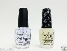 OPI Nail Polish Top Coat + Matte Top Coat .5oz/15ml ~2 bottles~