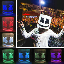7 Colors Led MarshMello DJ Full Head Mask Helmet New Year Party Bar Pub Dress