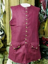 18th Century/Rev War Men's Reenactor Waistcoat, Deep Red- size 46