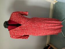 Next size 16 red crossover dress